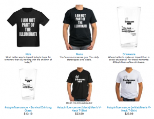 #StopInfluenceNow at CafePress