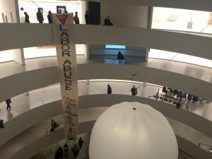 Art / activism at the Guggenheim