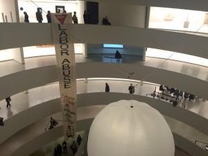Art / activism at the Guggenheim