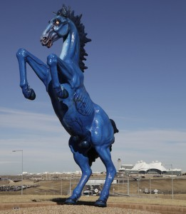 Mustang sculpture at Denver International Airport