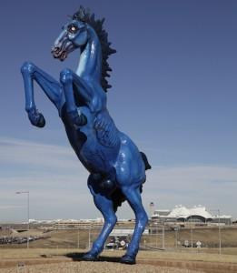 Mustang sculpture at Denver International Airport